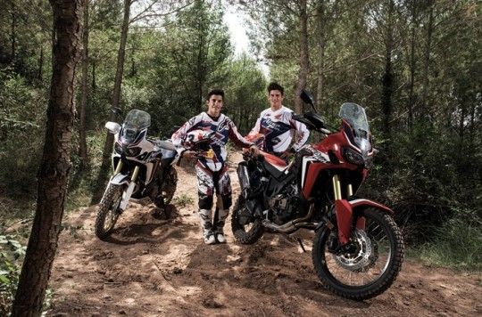 Marquez and Barreda put Africa Twin through its paces