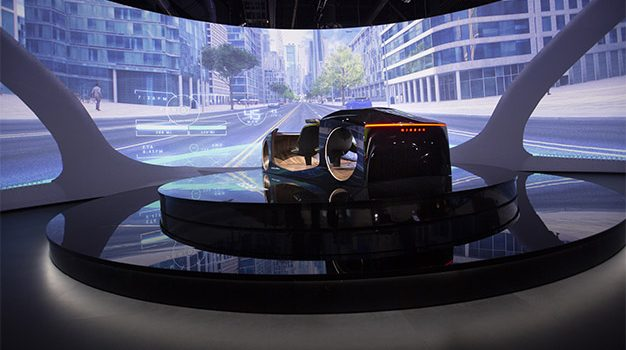 "At CES 2019, Nissan demonstrated the future of driving to CES visitors through an interactive, three-dimensional immersion experience at Nissan's display.  Invisible-to-Visible, or I2V, is a future technology that helps drivers ""see the invisible"" by merging both real and virtual worlds, creating the ultimate connected-car experience"
